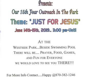 Our 15th Year Outreach In The Park